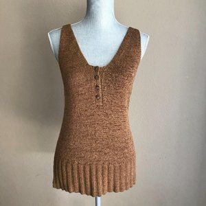 NWT Universal Thread Brown V-Neck Sweater Top Smal